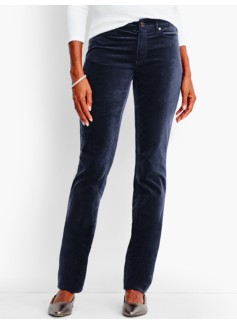 The Flawless Five-Pocket Velveteen Straight-Leg-Curvy