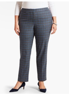 Talbots Hampshire Ankle Pant-Plaid