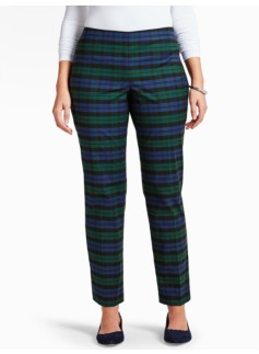 Blackwatch Plaid Tailored Ankle Pant-Curvy