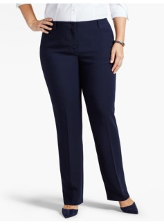 Refined Crepe Straight-Leg Pant