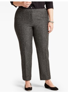 Womans Sequin Tweed Tailored Ankle Pant