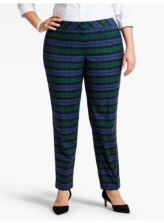 Womans Blackwatch Plaid Tailored Ankle Pant