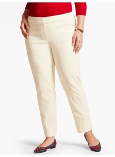 Womans Talbots Hampshire Velveteen Ankle Pant-Ivory