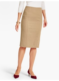 Luxe Camel Hair Pencil Skirt