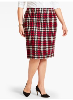 Merry Plaid Pencil Skirt