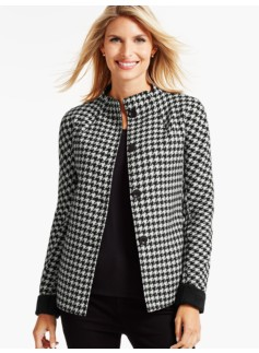 Houndstooth Double-Face Swing jacket