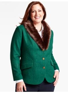 Faux Fur-Collar Aberdeen Shetland Blazer