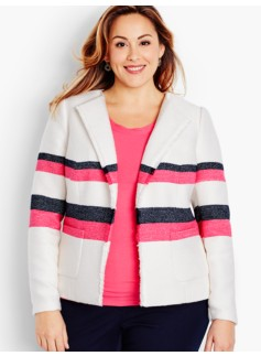 Fringed Stripe Jacket