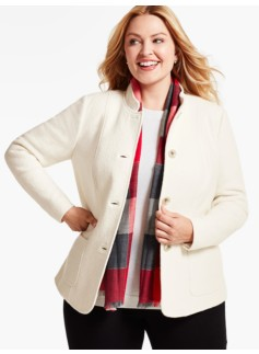 Berkshire-Textured Jacket - Ivory