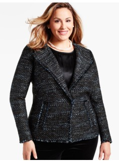 Womans Fringed Vienna Tweed Jacket