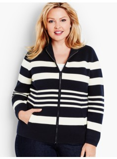 Milano Knit Jacket-Stripes