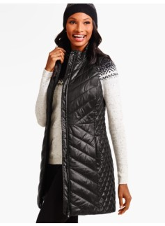 Long Quilted Primaloft� Puffer Vest