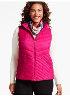 Chevron-Quilted Puffer Vest