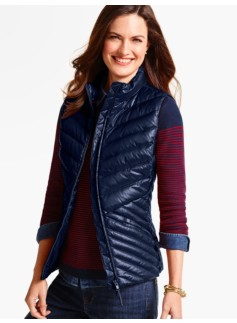 Cir� Chevron-Quilted Puffer Vest