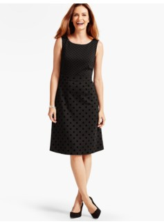 Snowball-Flocked Dot Ponte Dress