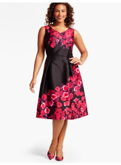 Roses Fit & Flare Dress