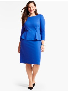 Refined Ponte Peplum Sheath Dress
