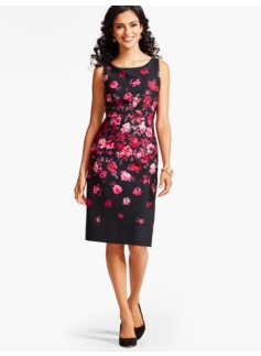 Roses Sheath Dress