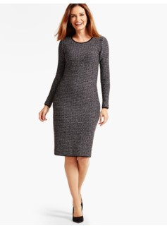 Textured Sweater Dress