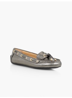 Easton Driving Moccasins-Metallic Leather