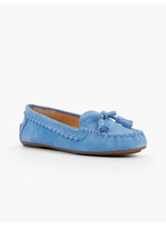 Everson Whipstitched Driving Moccasins - Suede