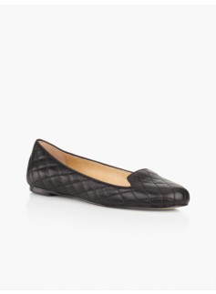 Georgina Quilted Flats-Soft Leather