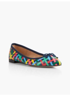 Mira Ballet Flats-Fun Plaid