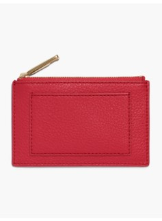 Pebble Leather Zip Card Case