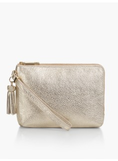 Double-Gusset Wristlet-Metallic
