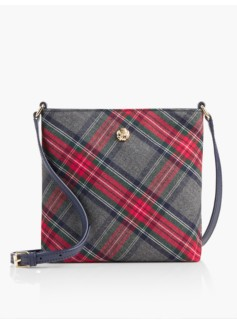 Bonfire Plaid Crossbody Bag