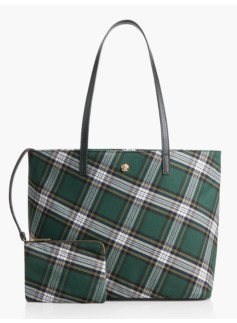 Bonfire Plaid Tote