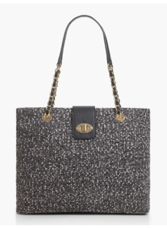 Boucle Turnlock Tote
