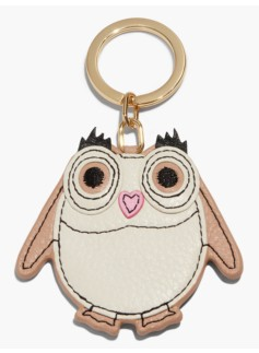 Leather Key Fob-Owl