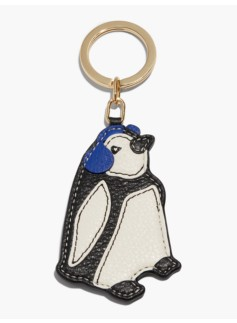 Leather Key Fob-Penguin