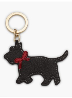 Leather Key Fob-Scotty Dog