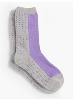 Two-Tone Dot Socks