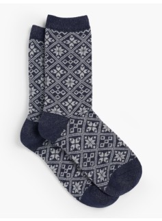 Sparkle Snowflake Trouser Sock