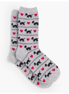 Womans Scottie Dog Trouser Sock