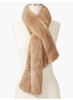 Faux-Fur Pull-Through Scarf