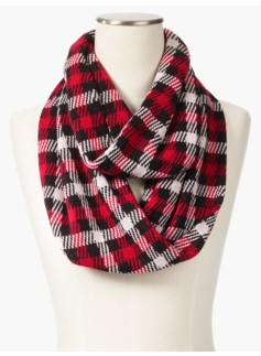 Forest Check Infinity Scarf