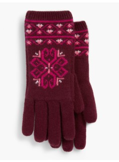 Medallion Fair Isle Gloves