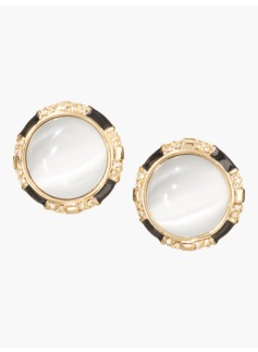 Cat Eye Enamel Studs