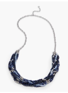Twisted Bead Multi-Strand Necklace