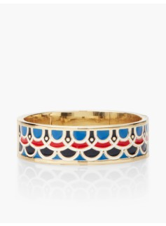Scalloped Enamel Bangle