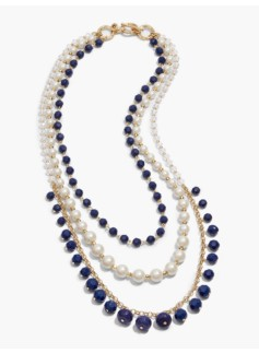 Multi-Strand Rondelle Bead Necklace