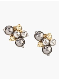 Dainty Cluster Bead Earrings
