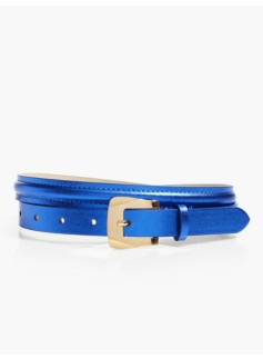 Bombay Skinny Belt - Metallic Leather