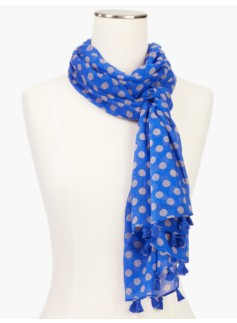 Winter Polka-Dot Scarf