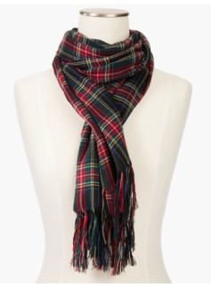 Midnight Plaid Scarf
