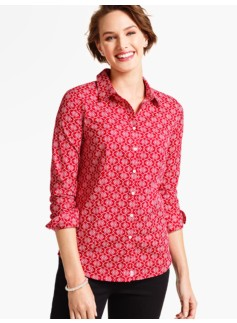 The Perfect Long-Sleeve Shirt-Filigree Snowflakes